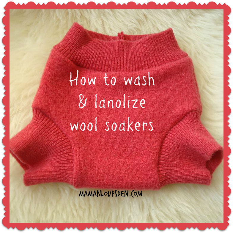 How to Wash and Lanolize a Wool Soaker