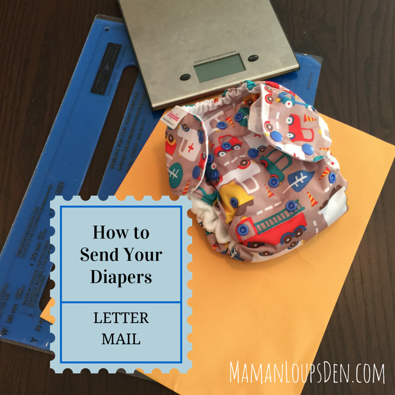 How to Send Your Cloth Diapers Lettermail ~ Maman Loup's Den