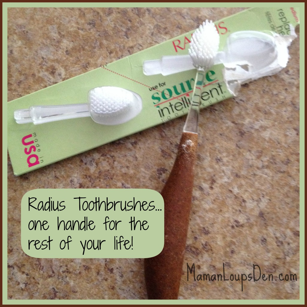 Radius Toothbrushes: Replaceable Brush Heads Mean Less Waste!