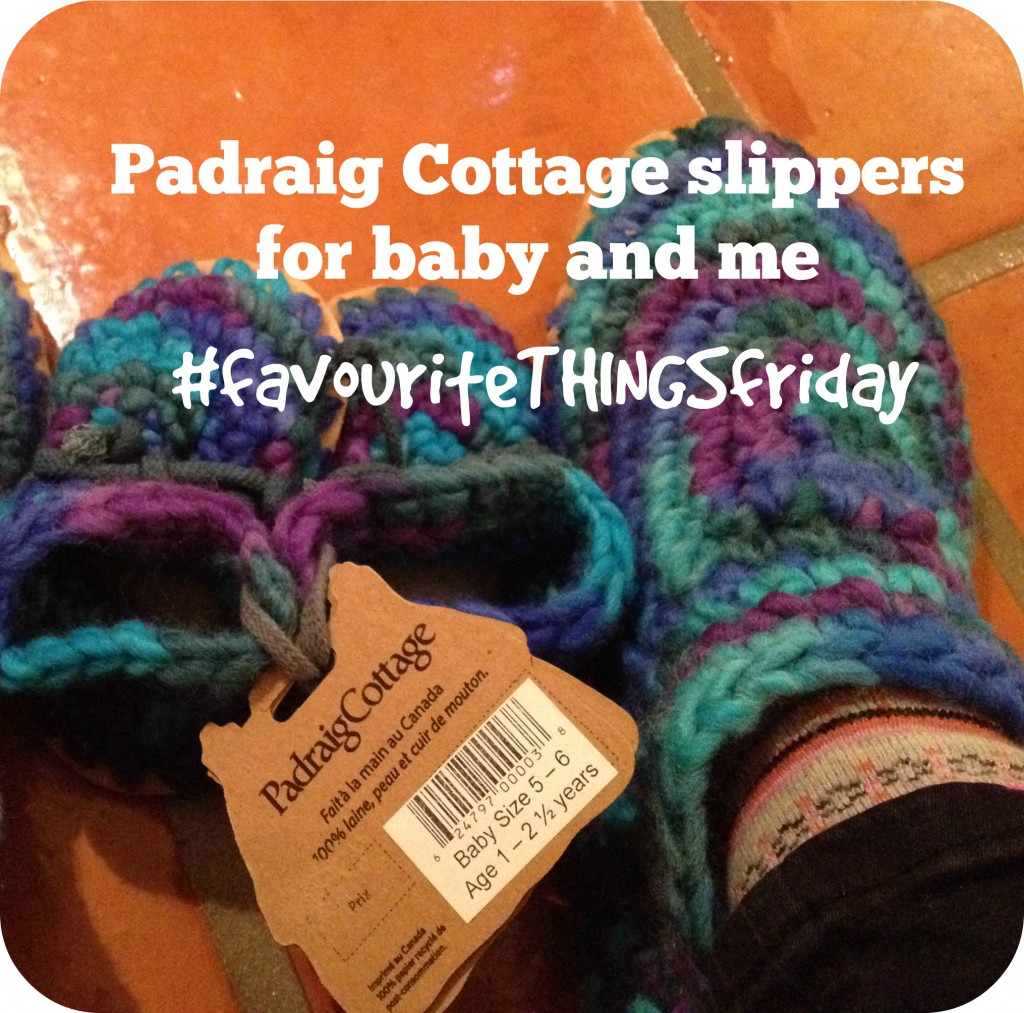 Padraig Cottage Slippers for Baby and Me #favouriteTHINGSfriday