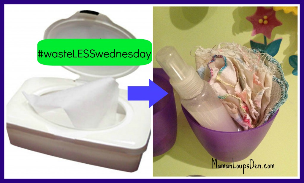 Trash the Wet Wipes for Cloth Wipes! #wasteLESSwednesday