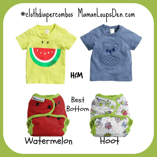 Best Bottom Watermelon and Hoot Cloth Diaper Combos ~ Maman Loup's Den #clothdiapercombos