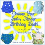 "Cloth Diaper Addicts ""Happy Birthday, Suzi"" Swim Diaper #Giveaway (Closed)"