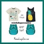 #ClothDiaperCombos AMP Surf
