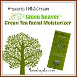 #FavouriteThingsFriday Green Beaver Grean Tea Facial Moisturizer