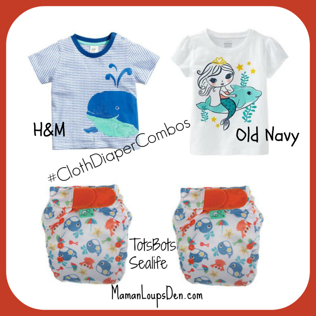 TotsBots Sealife Cloth Diaper Combo