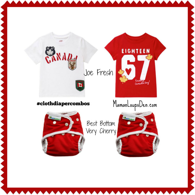 Best Bottom Canada Day Cloth Diaper Combos ~ Maman Loup's Den #clothdiapercombos