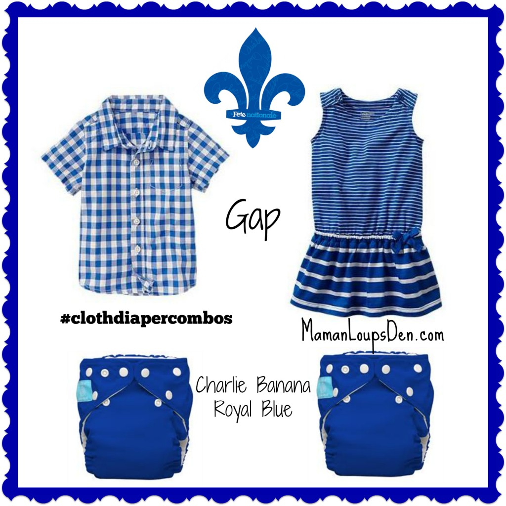 La fête nationale! #ClothDiaperCombos for Québec Bébés