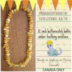 Mama Naturelle Baltic Teething Necklace #MamanLoupThanksYou Flash Giveaway!