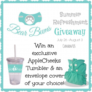 Bear Bums Summer Refreshment Giveaway #winallthediapers