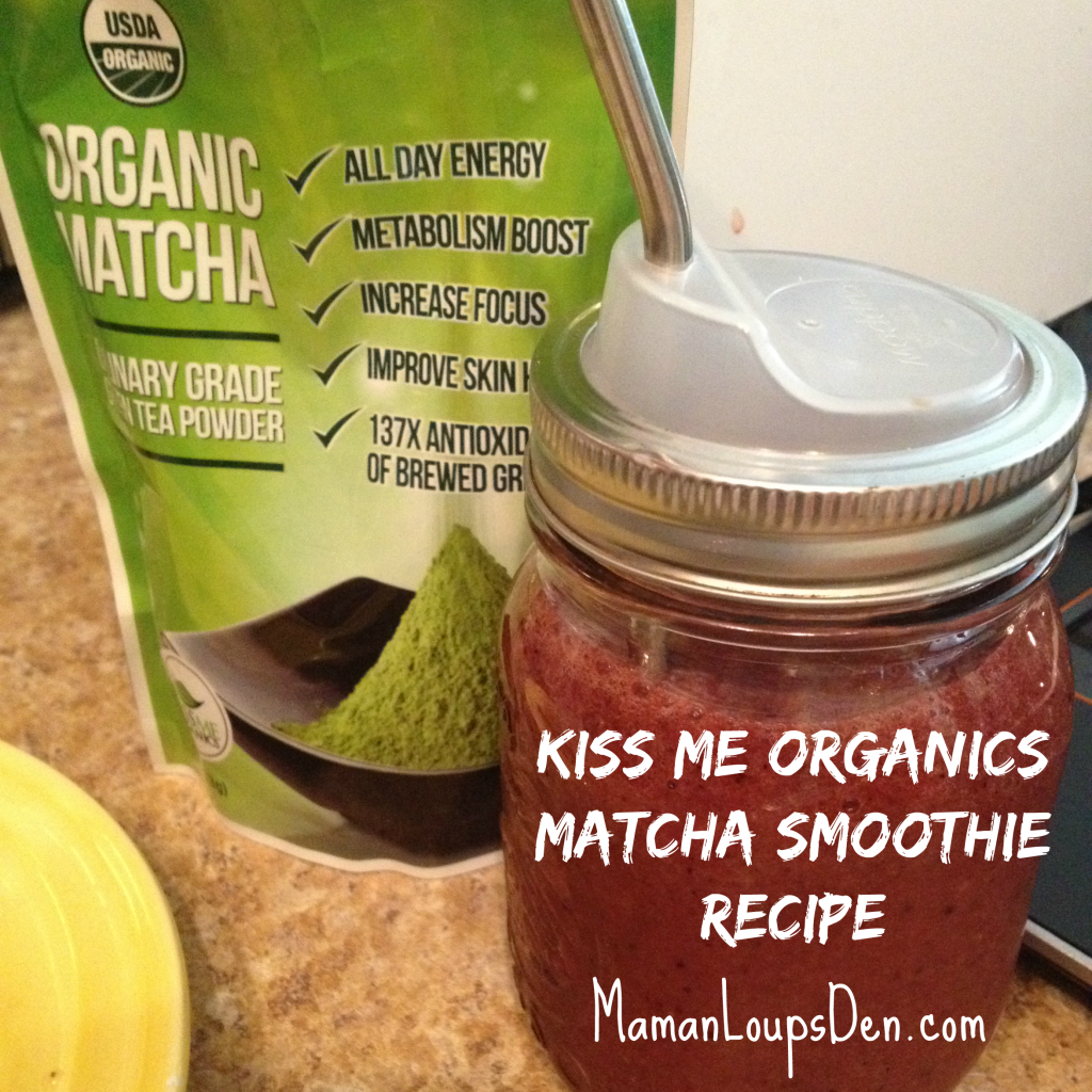 Kiss Me Organics Matcha Smoothie Recipe & Review