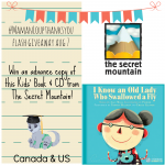 The Secret Mountain Publishing Kids' Book  & CD Flash Giveaway #MamanLoupThanksYou