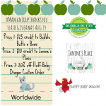 WAHM Flash Giveaway #MamanLoupThanksYou Featuring Bubble Butts n Bows, Janine's Place & Fluffy Baby Dragon