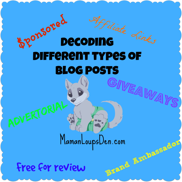 Understanding the Different Types of Blog Posts at Maman Loup's Den