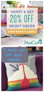 ModCloth: BETTER than cloth diapers! (And possibly cheaper)