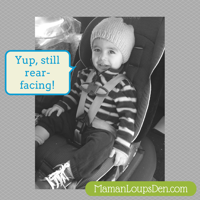 Why my toddler is still rear facing.