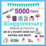 Maman Loup's 5000 Fans Bloggiversary #MamanLoupThanksYou #WinAllTheDiapers