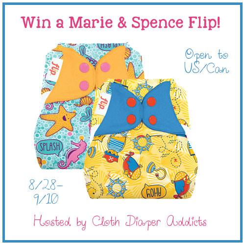 Flip'n OUT Over Spence & Marie! BumGenius #Giveaway #WinalltheDiapers