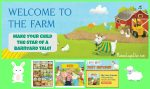 "Bring Your Kids to the Farm Without Leaving the City with ""My Farm Friends"" Personalized Books and Accessories"