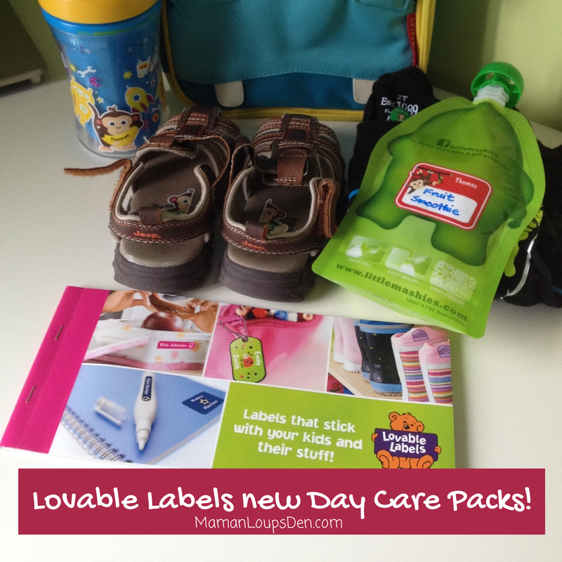 Meet the Lovable Labels New Day Care Pack! #Giveaway