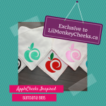 Lil' Monkey Cheeks AppleCheeks-Inspired Bandana Bibs