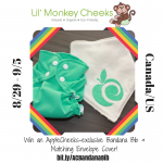 Win an #AppleCheeksExclusive #ACBandanaBib from #LilMonkeyCheeks + Matching Envelope Cover!