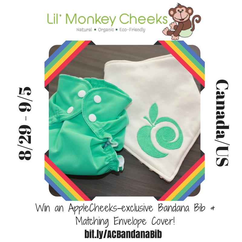 Win an #AppleCheeksExclusive #ACBandanaBib from #LilMonkeyCheeks + Matching Envelope Cover!