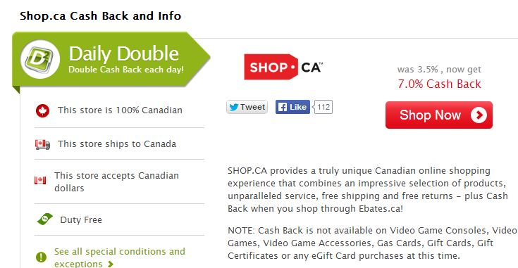 shop.ca double cash back
