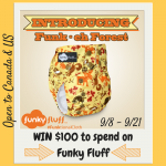 Meet Funky Fluff's New Release, Funk-eh Forest, and Win $100 to Spend on New Diapers!
