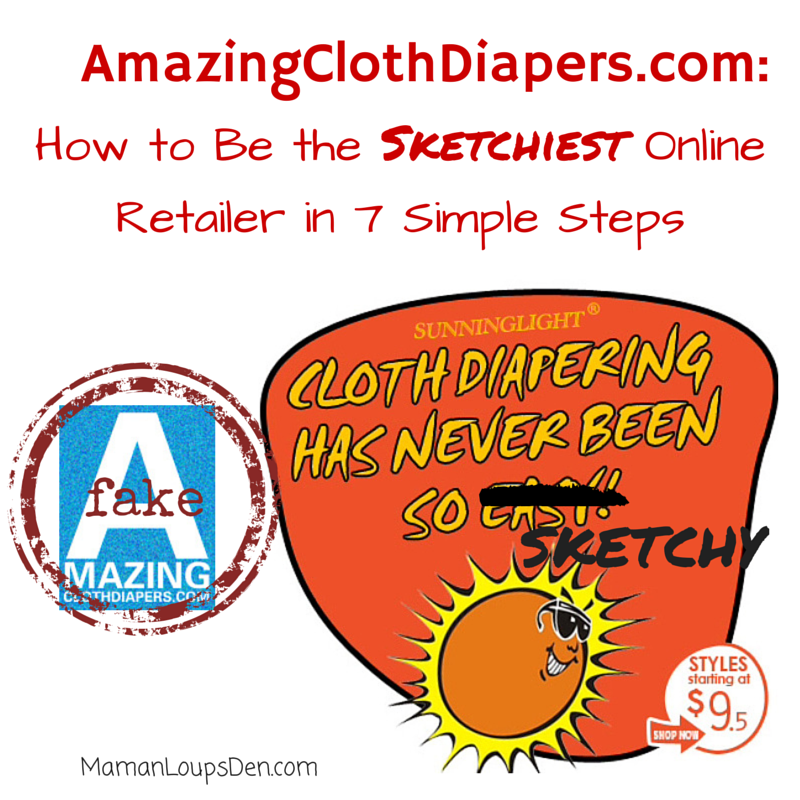 Avoid AmazingClothDiapers.com