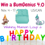 Happy Birthday to Me! Win a BumGenius 4.0 from Lil Monkey Cheeks