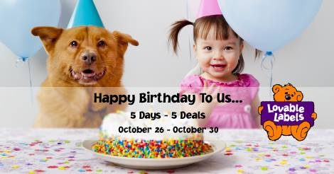 Lovable Labels Birthday Promotion!