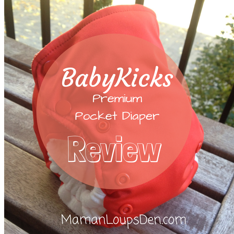 Baby Kicks Pocket Diaper Review ~ Maman Loup's Den