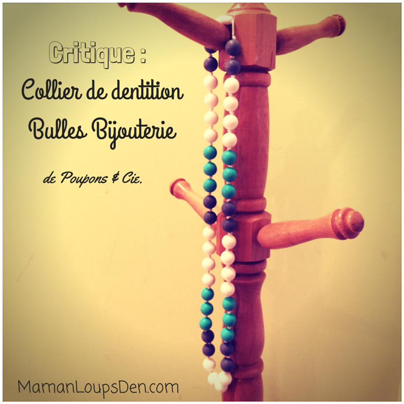 Critique : Collier de dentition de Bulles Bijouterie