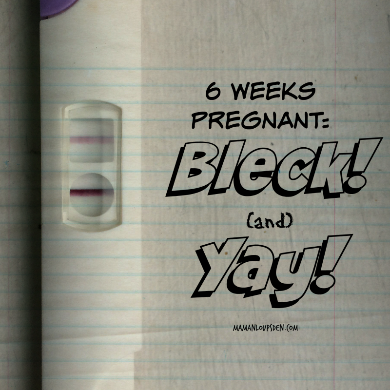 6 Weeks Pregnant. Blech. and Yay!