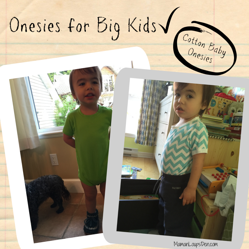 Cotton Baby Onesies: Onesies for big kids!