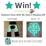 Win Funksters Grow With Me Pants and Matching Bandana Bib!