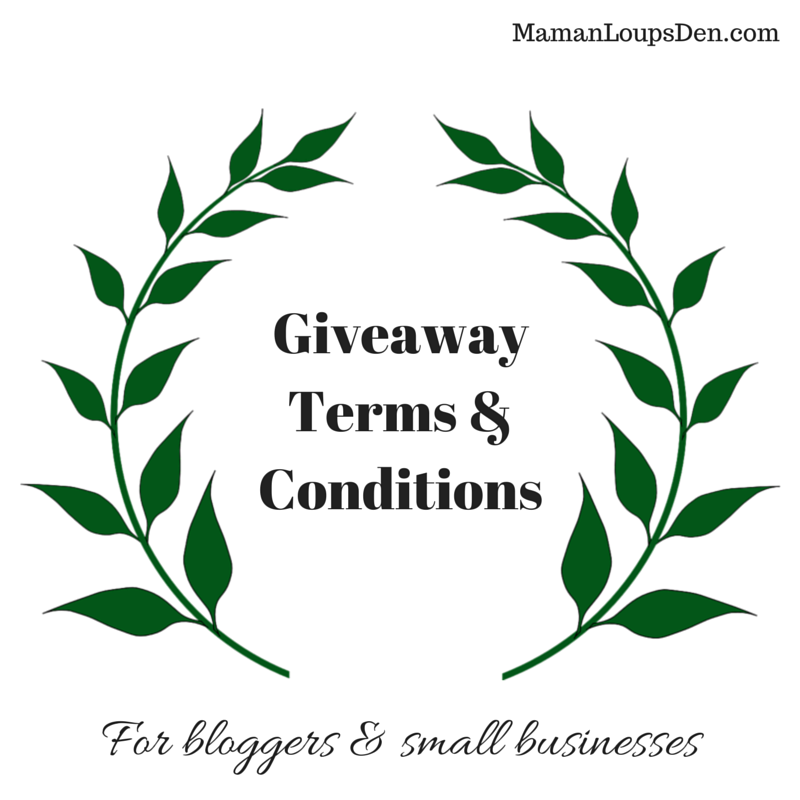 Giveaway Terms & Conditions to copy & paste