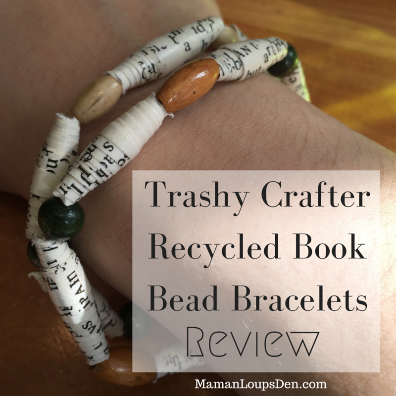 Trashy Crafter  Recycled Book Bead