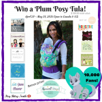 Maman Loup's 10,000 Fans Plum Posy Tula Baby Carrier #Giveaway