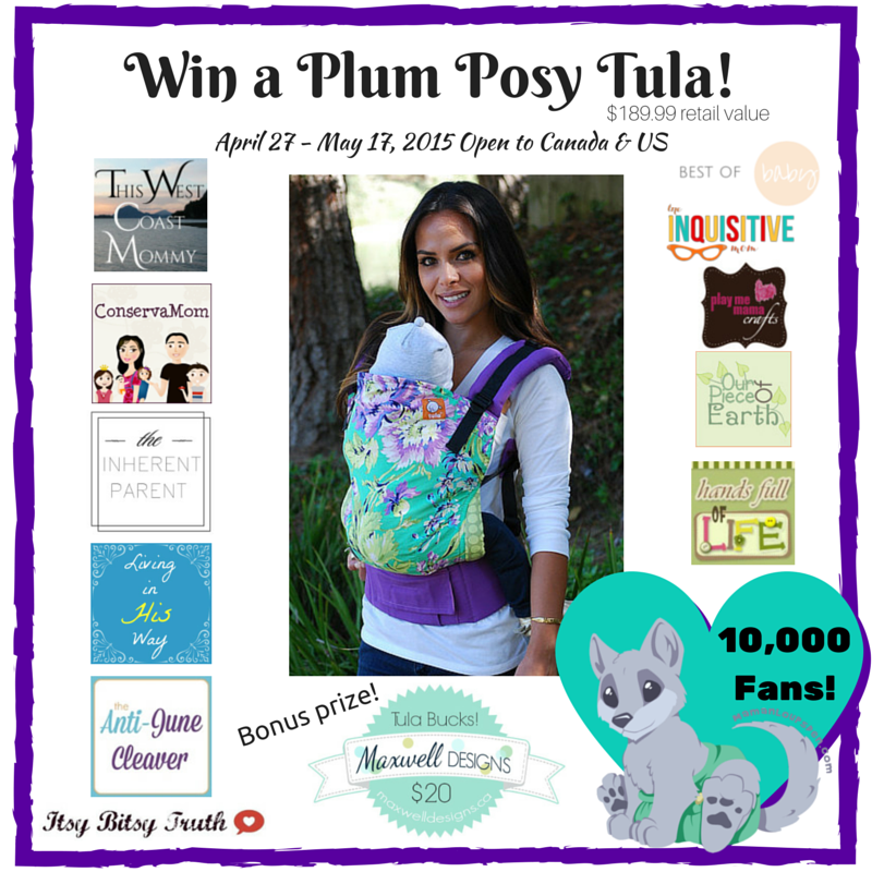 Win a Plum Posy Tula Baby Carrier