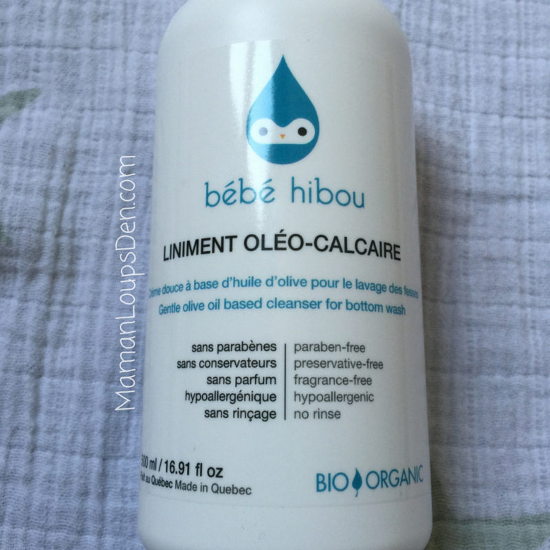 bébé hibou liniment bottle