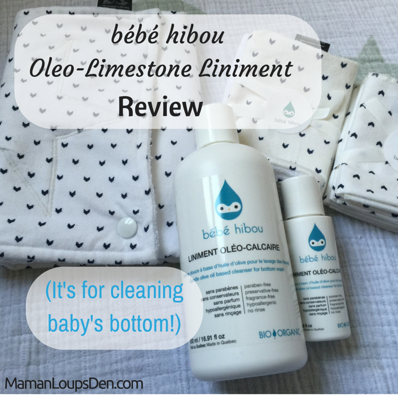 bébé hibou oleo-limestone liniment cloth diaper safe baby bum wash review
