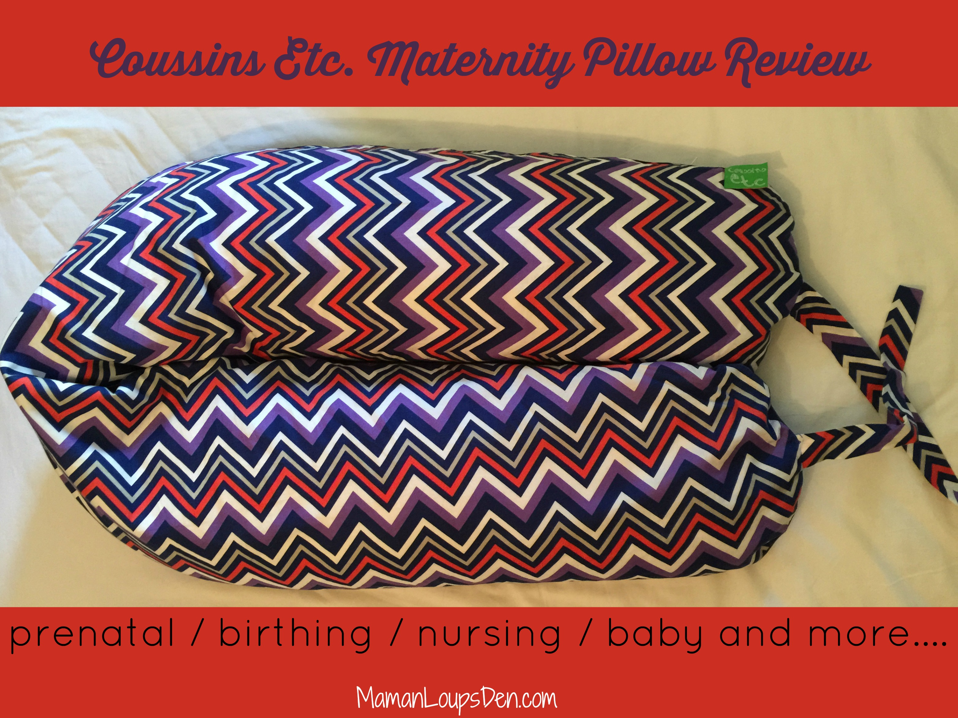 Coussins Etc Maternity Body Pillow Review: the only pillow you'll need for pregnancy, delivery and postpartum! Great for sleeping, nursing, yoga and baby play time. Made in Quebec, Canada.