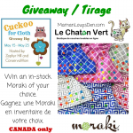 Cuckoo for Cloth Giveaway Hop: Win a Moraki Diaper of your Choice! {Canada only}