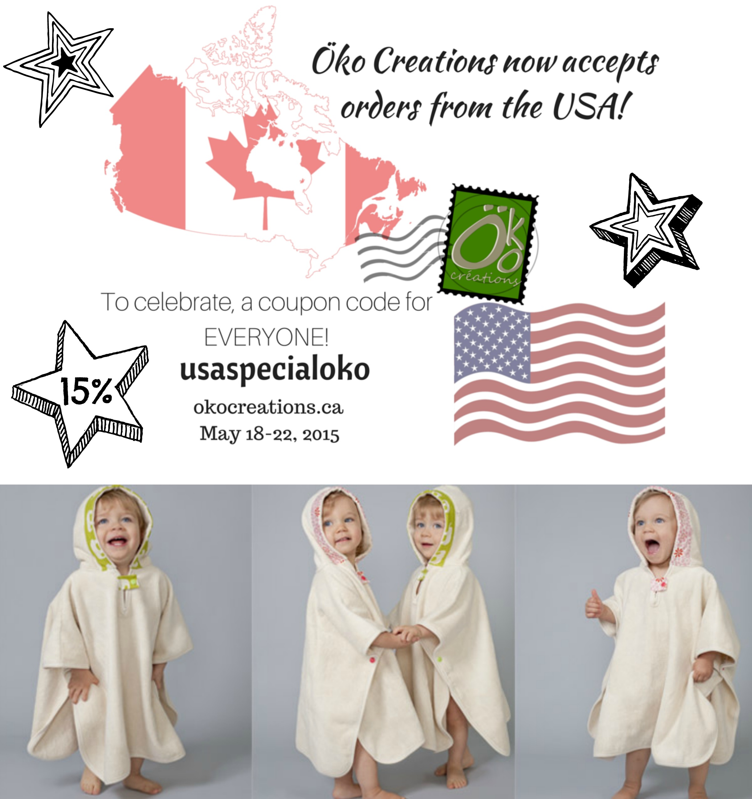 Öko Creations now accepts orders from the USA
