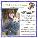 Win a Belly Bedaine Maternity & Babywearing Sweater from Lil' Monkey Cheeks