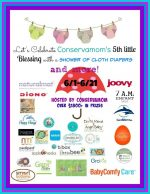 Conservamom's Shower of Cloth Diapers #Giveaway (US only)