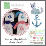 Summer Cloth Diaper Hop: Win an AppleCheeks Rashguard from Baby Footprint
