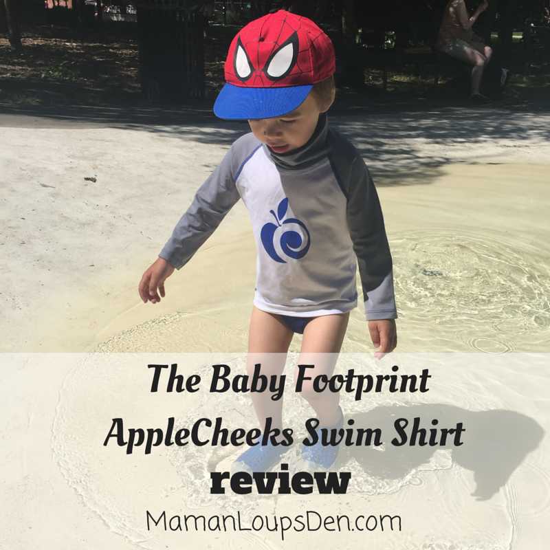 AppleCheeks Swim Shirt Review by Maman Loup's Den